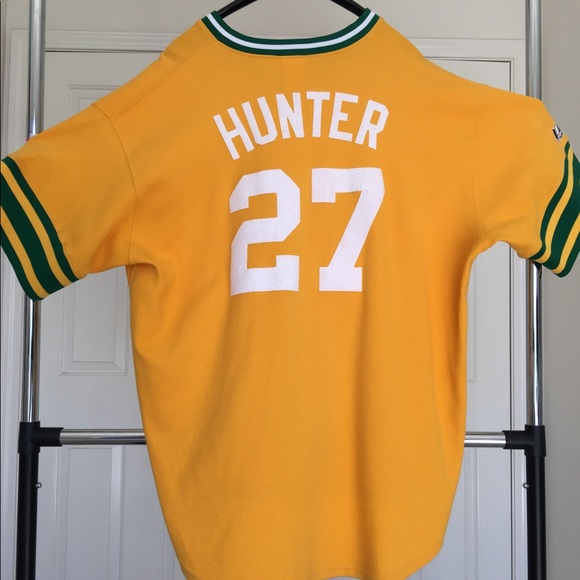 cheap for discount 113bc 23159 AUTHENTIC CATFISH HUNTER OAKLAND A'S THROWBACK.